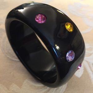 Jewelry - Deco Style Black Resin Bangle